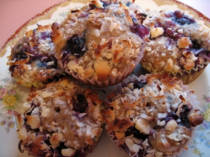 Mango Blueberry Breakfast Muffins