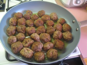 Meatballs Frying