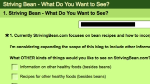 Striving Bean Survey