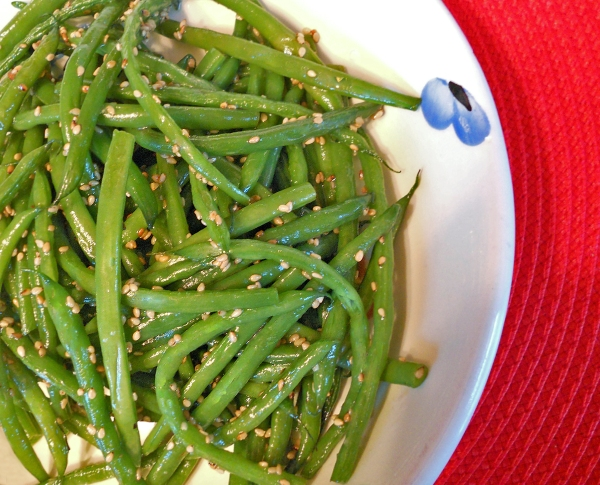 Thanksgiving Sesame Green Beans